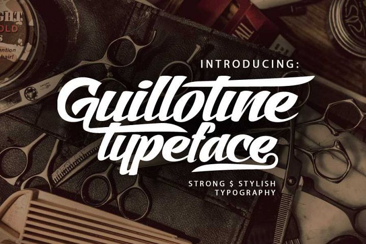 Guillotine from FontBundles.net