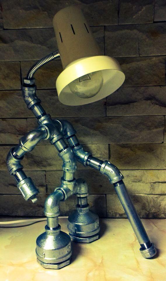 Galvanized Pipe Lamp STEVO Pinterest