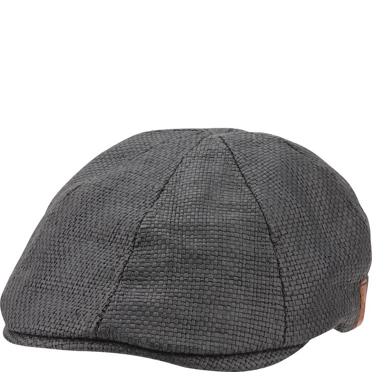 Straw 6-panel driving cap with poly cotton melange lining.