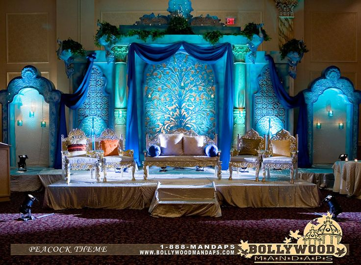 Bollywood Mandap -- beautiful blues..