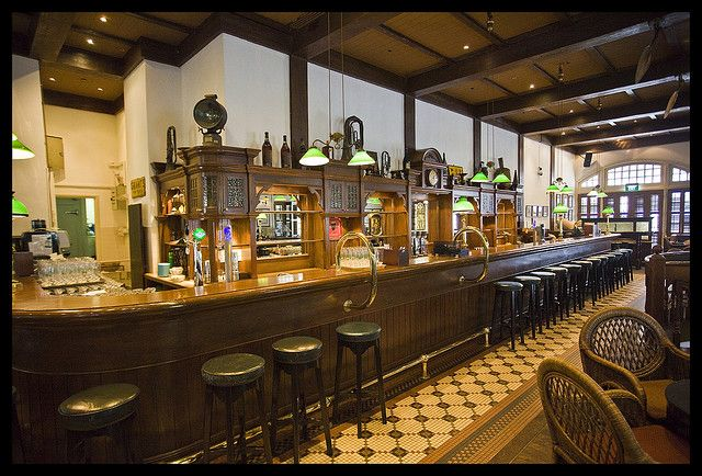 Singapore - Raffles Hotel Long Bar. We had fun here, it is very laid back. We sat up at the bar eating peanuts and chatting to people.