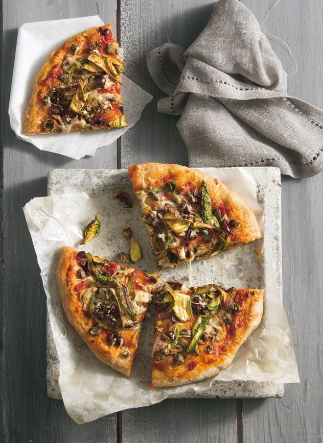 Χορτοφαγική πίτσα με αλεύρι ολικής άλεσης
