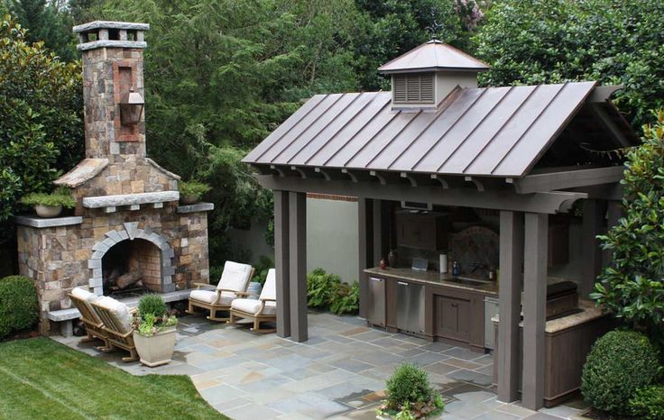 Outdoor Fireplace and Outdoor Kitchen combination ... #coachbarn