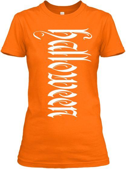 Orange Halloween Women's T-Shirt!                                                                                                                       Trick or Treat Pumpkin Party!