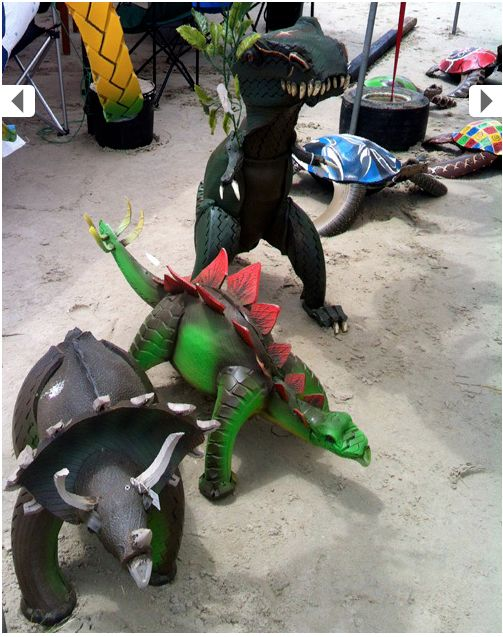 56 best tire play equipment images on pinterest children for Tractor tire recycling