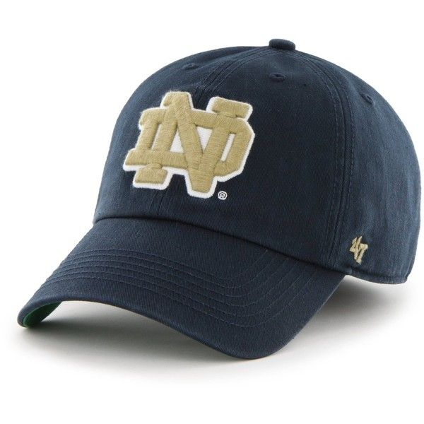 NCAA Notre Dame Fighting Irish '47 Brand Franchise Fitted Hat ($29) ❤ liked on Polyvore featuring accessories, hats, fitted sports hats, sports hats, fitted hats and sport hats