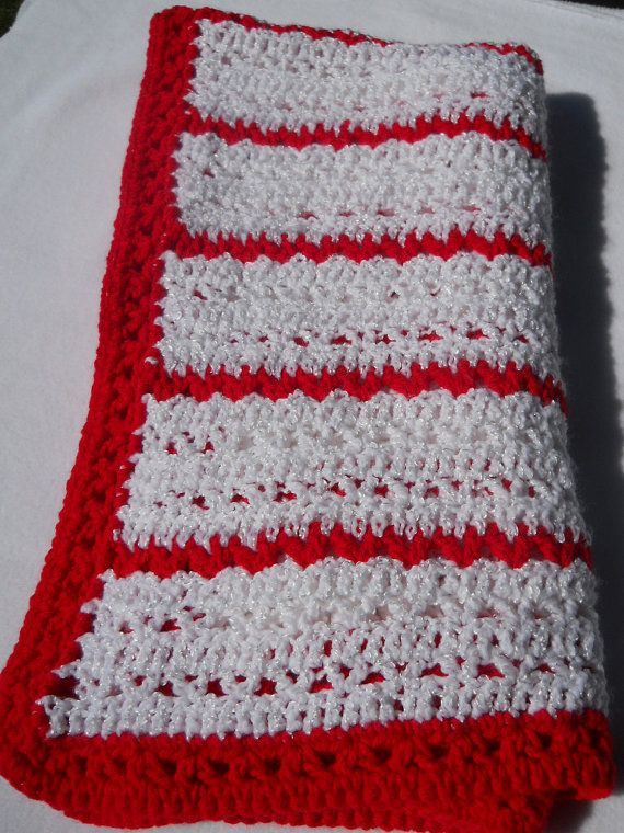 Peppermint Crocheted Baby Afghan: Crochet Baby Afghans ...