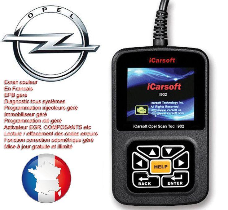 iCarsoft I902 pour Opel est un outil de diagnostic professionnel tous systèmes pour Opel, couvre les véhicules Opel de 1997 à 2013. Permet de diagnostiquer tous les systèmes et etiendre ou réinitialiser tous les voyant du tableau de bord.