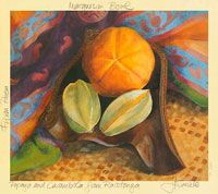 Rarotonga Composition with Carambola and Papaya
