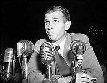 """August 3 – In an appearance before the House Committee on Un-American Activities (HUAC), Whittaker Chambers, a senior editor at Time magazine and a former Communist, accuses Alger Hiss of having been a member of """"an underground organization of the United States Communist Party""""."""