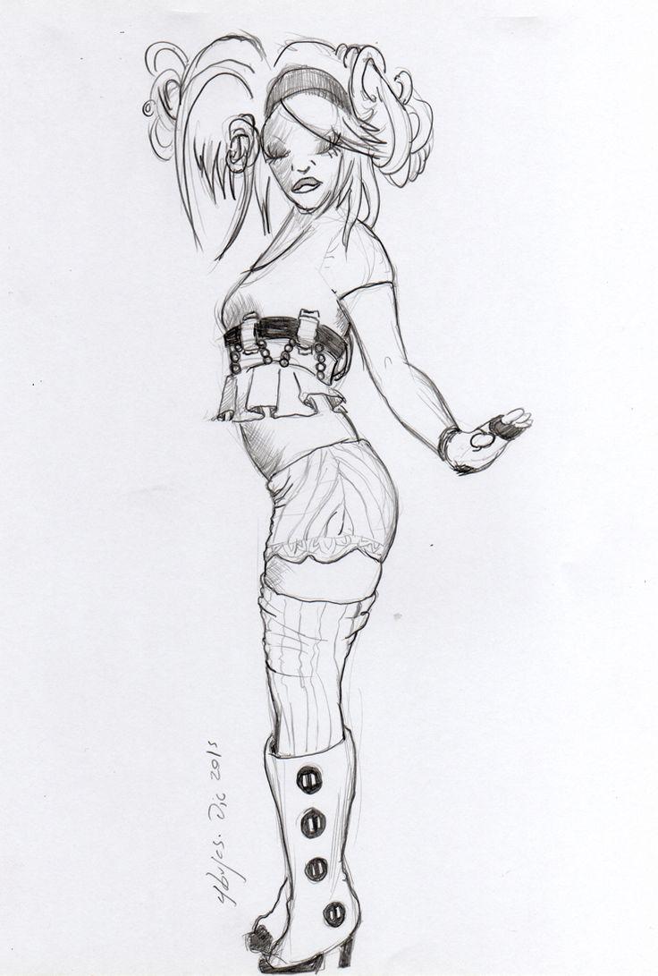 1 hour #sketch black an white