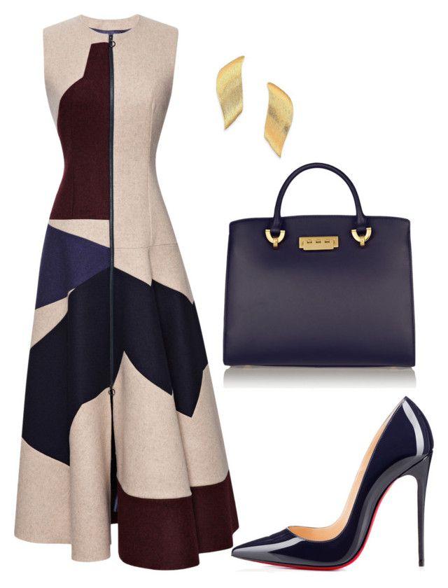 style theory by Helia by heliaamado on Polyvore featuring polyvore fashion style Roksanda Christian Louboutin ZAC Zac Posen Stephanie Kantis clothing