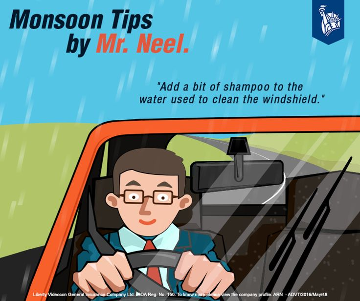 Mr Neel adds some drops of shampoo to the water used to clean the windshield of his car. This helps him keeping his windshield clean and dirt free.