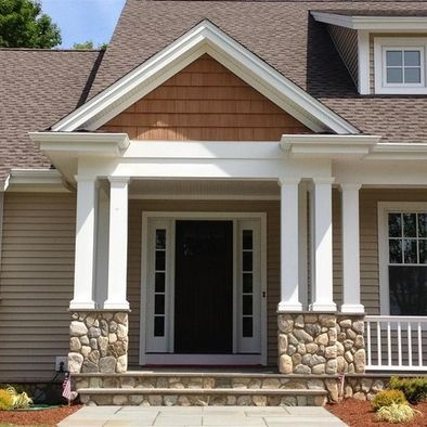 Traditional exterior craftsman style design pictures for Decorative exterior columns for house