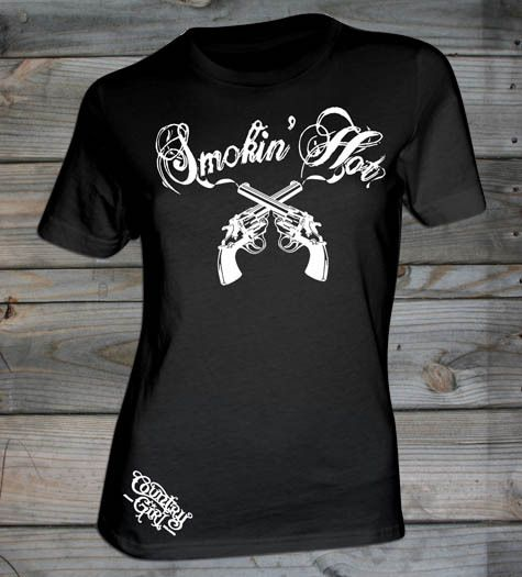 Country Girl Store - Women's Country Girl ® Smokin Hot Fashion Fit tee