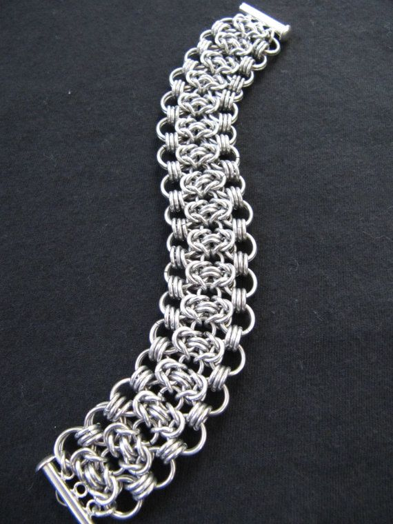 Elegant Silver Chainmaille Bracelet Maille by MischiefOfMice, $35.00