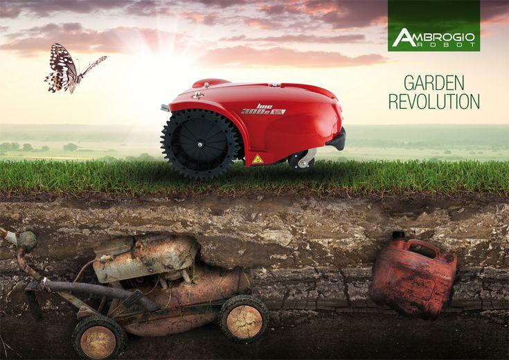 La potenza,la semplicità d'utilizzo, la comodità di starsene seduti mentre il robot tosaerba lavora per voi.............Garden Revolution. A partire da € 1099. Visita la nostra pagina web per vedere ulteriori modelli www.campionestore.com