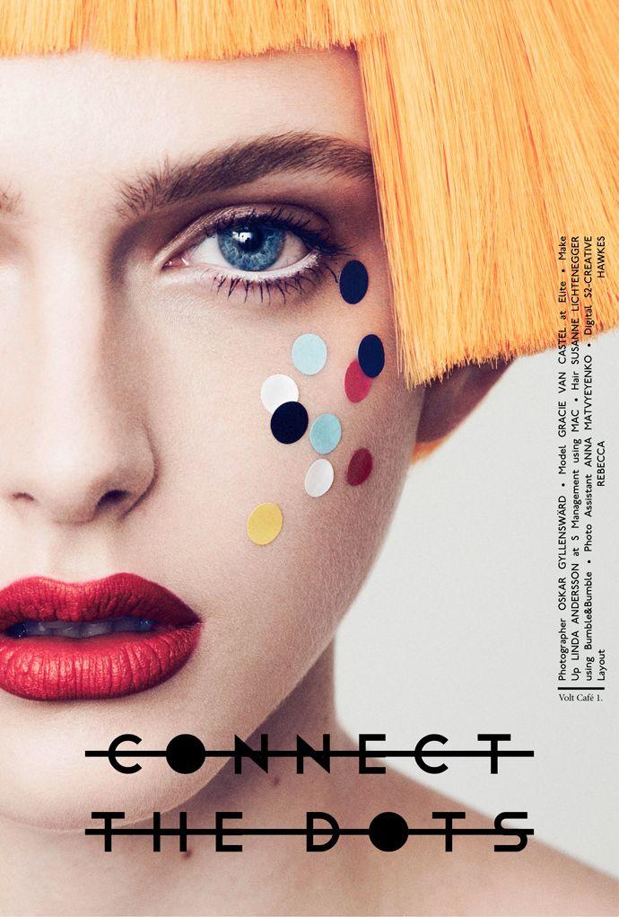 """Connect The Dots"" | Model: Gracie Van Gastel, Photographer: Oskar Gyllensward, Volt Magazine, December 2012"