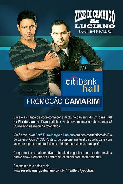 Email Marketing - Zezé Di Camargo e Luciano - Citibank Hall Rj