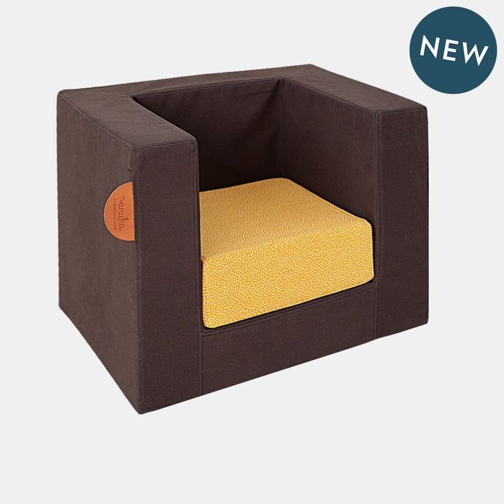 CUBE CHAIR <br> BLACK / YELLOW DOTS