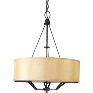 Illumine Infinite 3 Light Golden Auburn Incandescent Pendant-HD-MA41496750 at The Home Depot