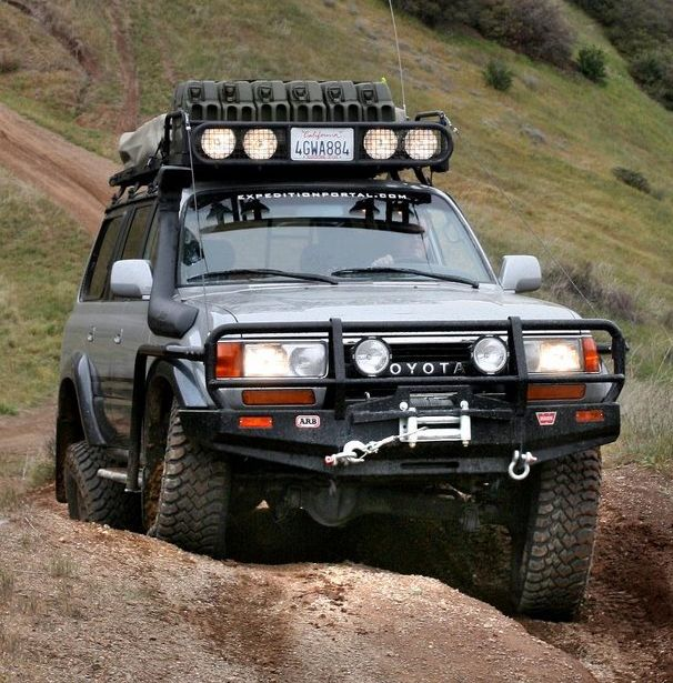 Nice looking Toyota LC80 with ARB winch bar.