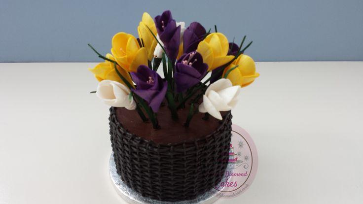 Easter Crocus flower cake. Www.sweetdiamondcakes.co.uk | Cake ...