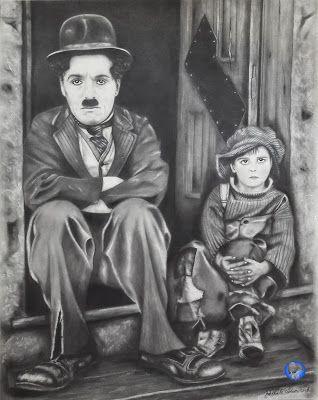 I miei disegni / My drawings: Charlie Chaplin (2017)
