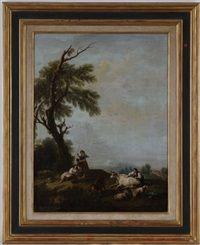 Pastorales pair by Francesco Zuccarelli