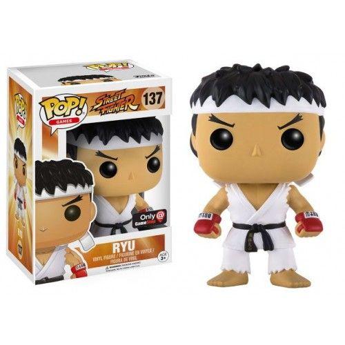 Funko Ryu White Headband, Street Fighter, SF, Games, Gamestop Exclusive, Funkomania