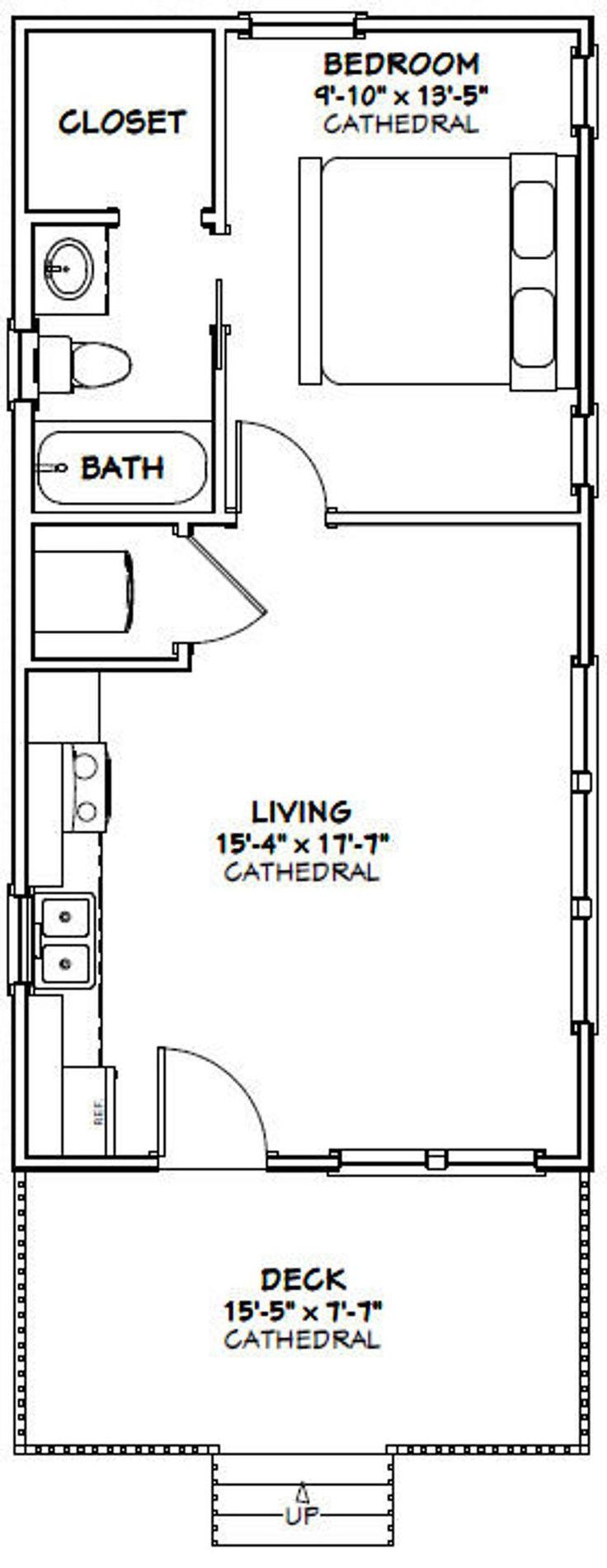 16x32 House 1Bedroom 1Bath 511 sq ft PDF Floor