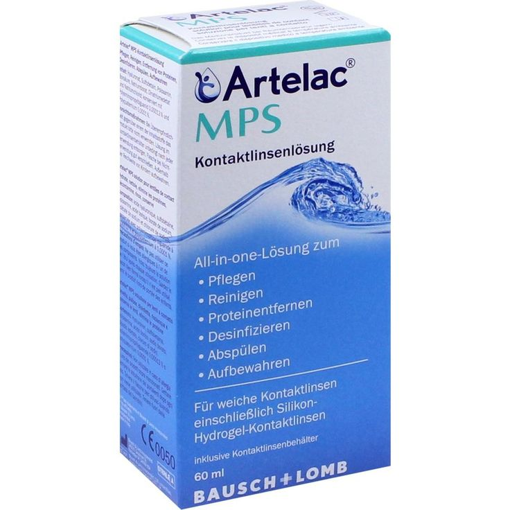 ARTELAC MPS Kontaktlinsenlösung:   Packungsinhalt: 60 ml Lösung PZN: 10853465 Hersteller: Dr. Gerhard Mann GmbH Preis: 3,09 EUR inkl. 19…