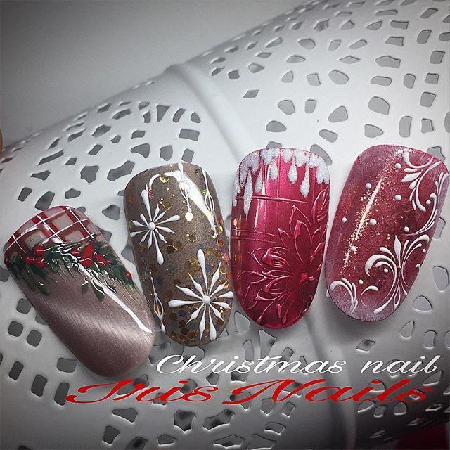 Christmas nail art ... #primetipnatalizie #iniziaunodeiperiodipiubellidellanno #adoro #natale #nailart #tobecontinued #nailscute #follow4follow #like4like #instagram ❤️️