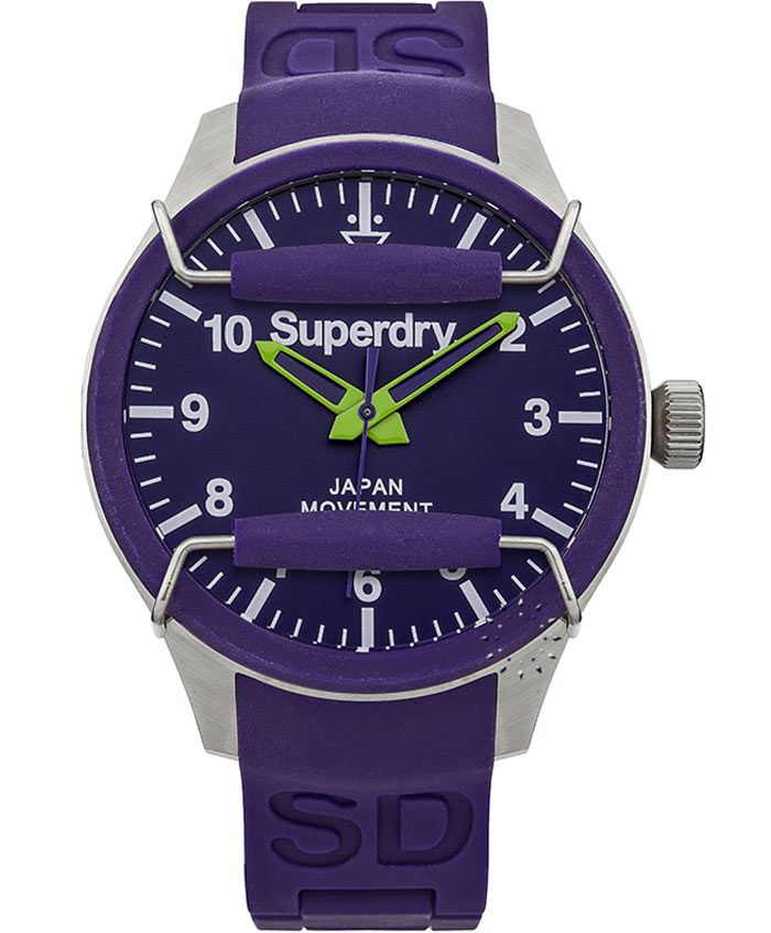 SUPERDRY Men's Scuba Purple Rubber Strap Τιμή: 89€ http://www.oroloi.gr/product_info.php?products_id=37031