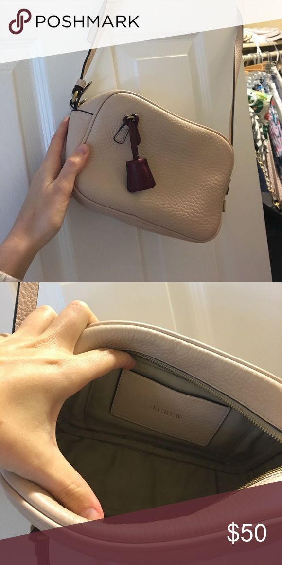 J Crew Purse Blush pink Signet bag. Super cute, keys and lock attached. Excellent condition, minimal wear on bottom. J. Crew Bags