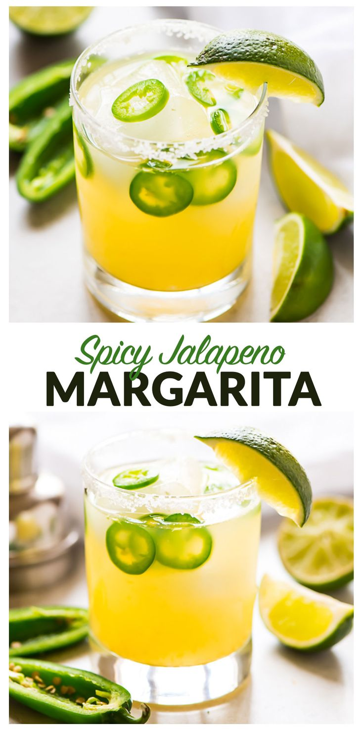 Skinny Jalapeno Margarita with fresh lime juice and agave. Easy and refreshing. This is the BEST spicy Jalapeno Margarita recipe! Recipe at wellplated.com | @wellplated