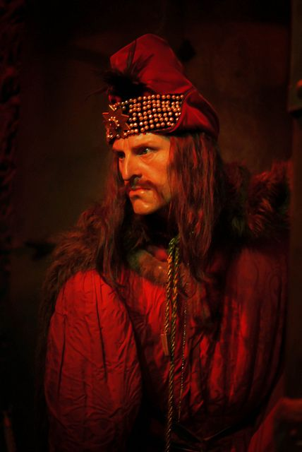 Vlad the Impaler at Madame Tussauds in London.  Prince & Warlord of Wallachia (now Romania) in the 1400s