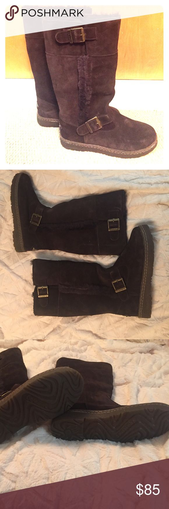 BearPaw Woodbury Boot Women's size 10, color: chocolate, 16 inch shaft, New, never worn BearPaw Shoes Winter & Rain Boots