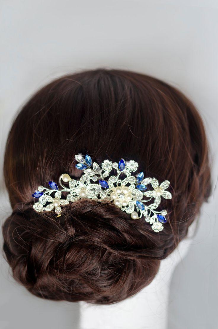 bridal hair comb rhinestone hair comb crystal hair от MarinaUA