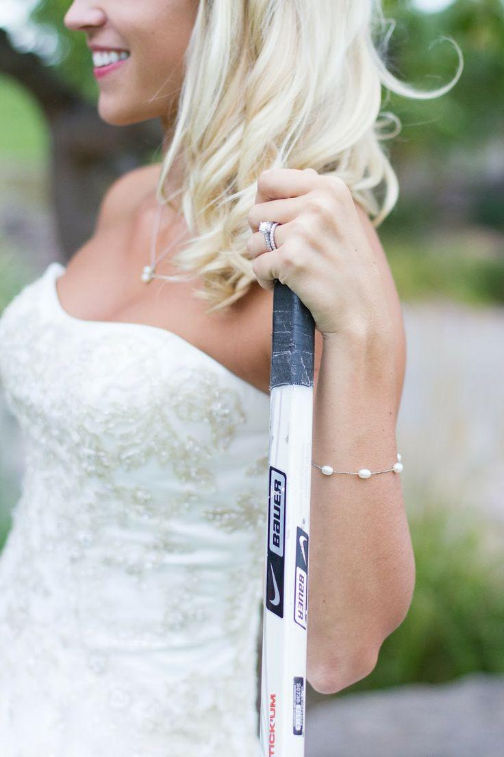 A hockey-themed wedding! Click the link to see all of my wedding's hockey details. #wedding #hockey #hockeywedding