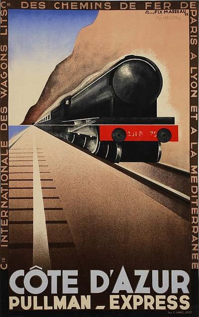 Pierre Fix-Masseau Pullman Express poster 1929 | Flickr - Photo Sharing!