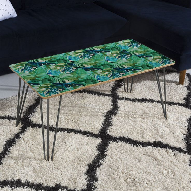 Amy Sia Welcome to the Jungle Palm Green Coffee Table | DENY Designs Home Accessories