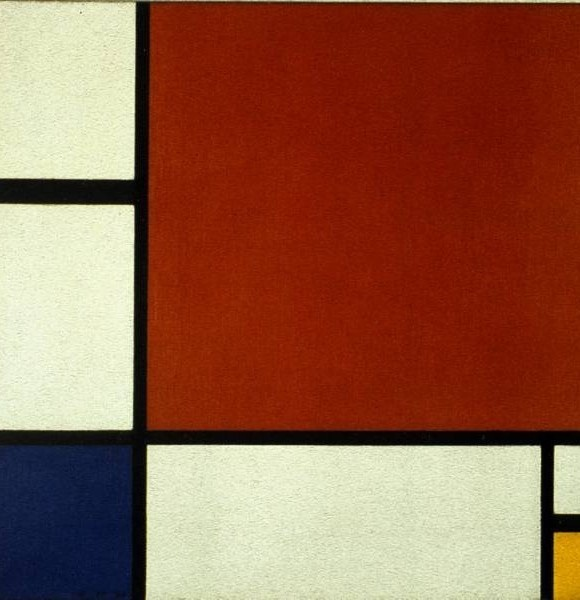 Mondrian Composition II in Red Blue and Yellow 1930