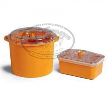 www.viviincampagna.it - #Contenitore 20x25 con coperchio ideale per conservare cibi #sottovuoto