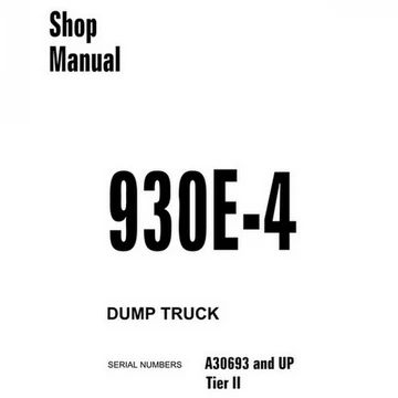 Komatsu 930E-4 Dump Truck Shop Manual (A30693 and up