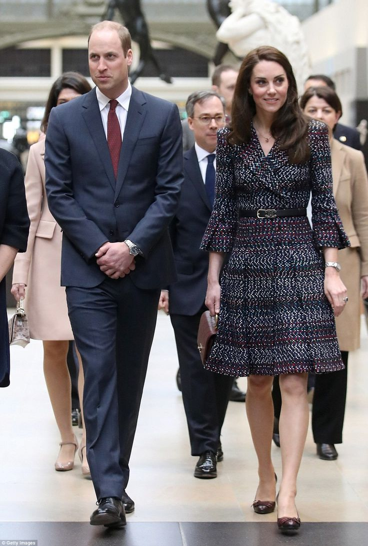 Prince William, Duke of Cambridge take a tour at Musee d'Orsay during an official two-day visit to Paris