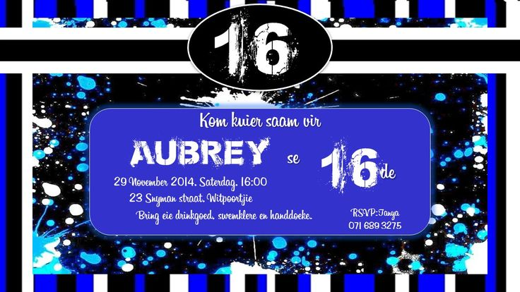 Birthday - 16th - Boy
