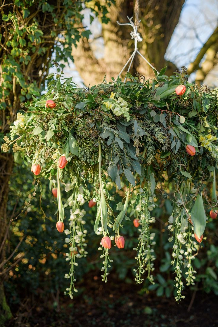 2018 is most definitely the year of hanging flowers and this stunning floral chandelier would suit any venue