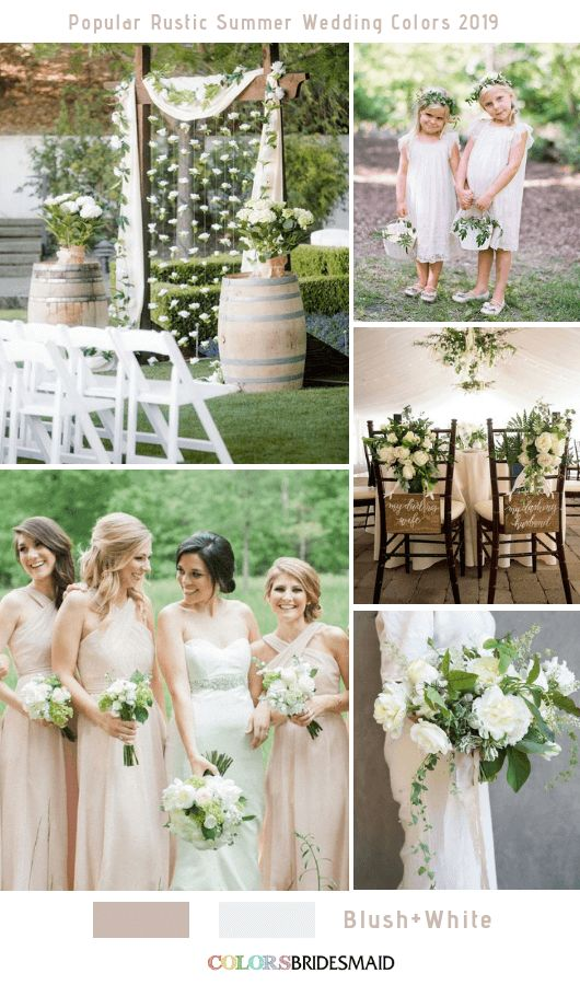 8 Popular Rustic Summer Wedding Color Ideas for 2019