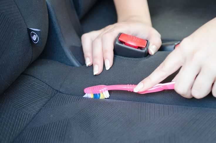 Brush dirt and grime out of the seams of your seats with a toothbrush.